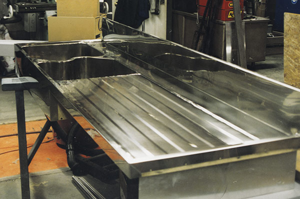 Sample Of Drainboard With Double Bowl